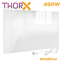 ThorX A450 W Infrared heater panel 450 Watt 60x80 cm white glass carbon crystal technology