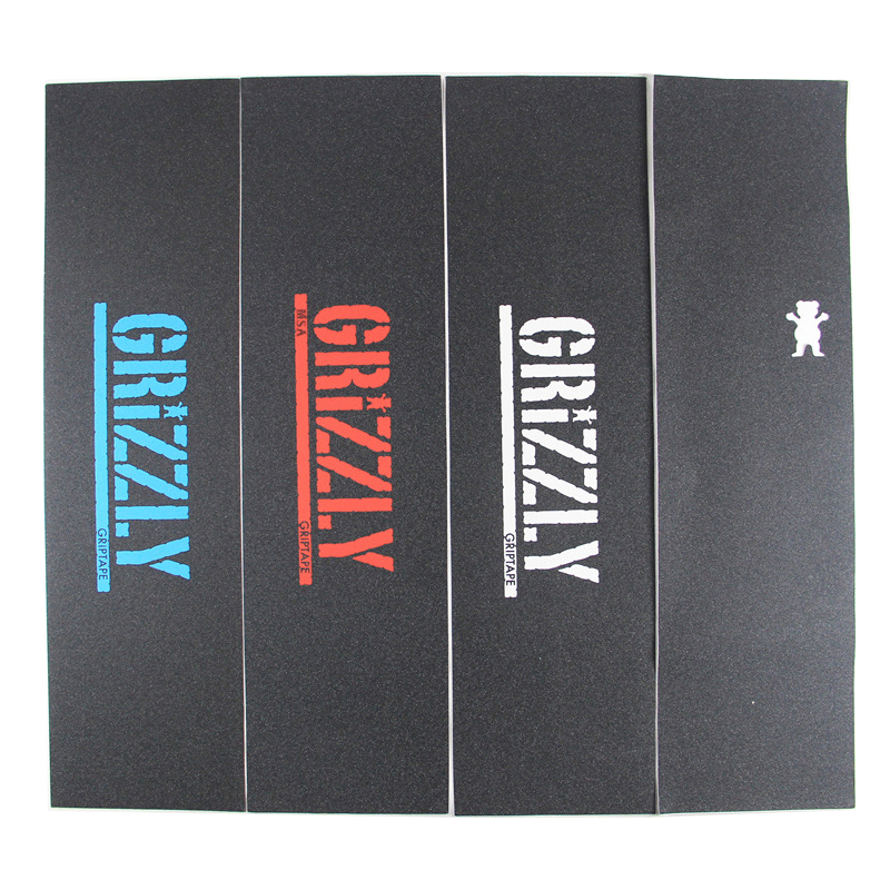 GRIZZLY Skateboard Grip Tapes Ferforated Holes Good Quality Factory Storage Sell Branded Tail Order