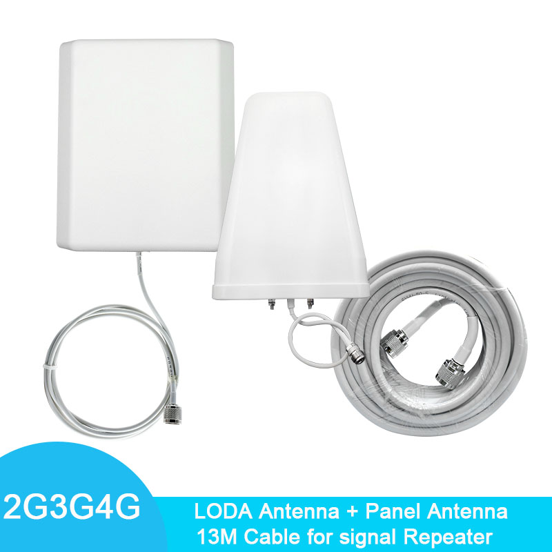 2G 3G 4GOutdoor Antenna LODA Antenna Indoor Panel Antenna For Mobile Signal Repeater Booster Amplifier Connect+13M Cable Kit