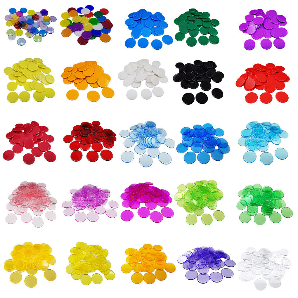 100pcs Montessori Learning Education Math Toys Learning Resources Color Plastic Coin Bingo Chip Children Supplies Counting Toys