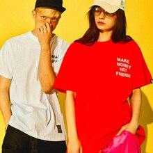 100 algodão t camisa dos homens fazer dinheiro não amigos marca roupas harajuku camiseta verão hip hop t shirts streetwear tshirt dos homens