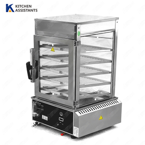 R500L Commercial steamer glass cabinet food steamer machine steamed bun steamer machine