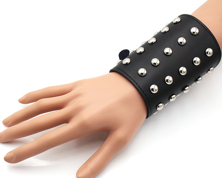 Arm Cuff Bangles Punk Bracelet Protector Cool Night Club Cosplay Lace Up Bandage Harness Wide Leather Gothic Rock Unisex