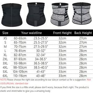 Image 2 - Neoprene Sweat Sauna Waist Trimmer Belt Abdominal Trainer Corset Fat Burner Sport Girdles Tummy Body Shaper Postpartum Recovery