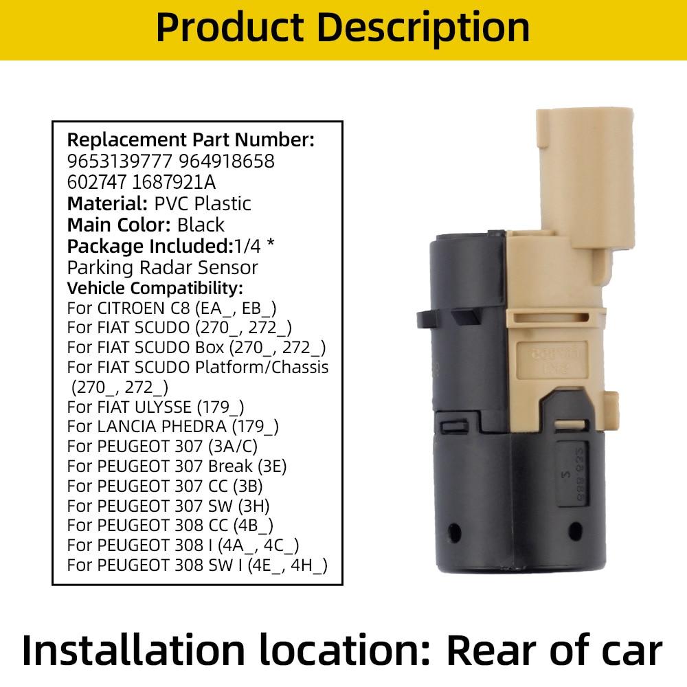 Купить dasbecan автомобильный pdc парковочный радар датчик для peugeot