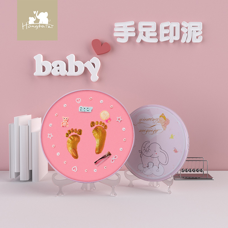 Baby Hand print Footprint SouvenirsDIY Kit Toys Gift  Souvenir For Newborn Babies  Hand And Footprint Makers For Newborn Baby