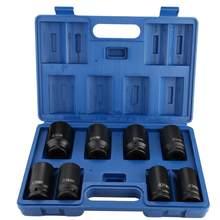 Jeu de 8 douilles à Impact profond, entraînement Durable de 3/4 pouces, 24-38mm