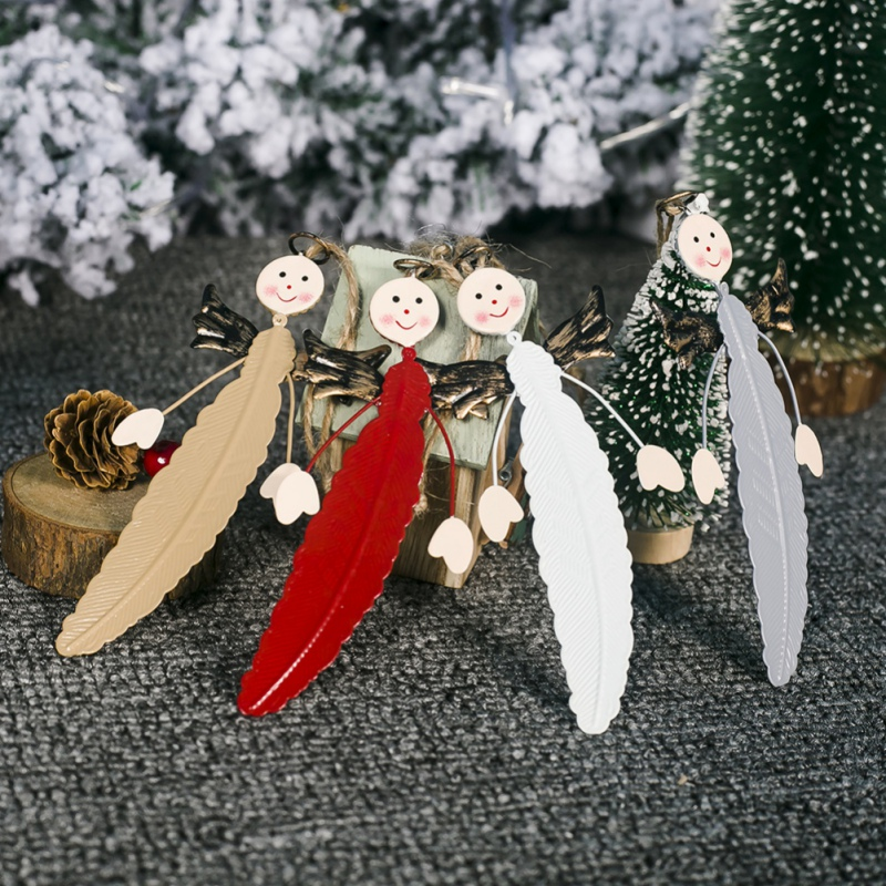 Cartoon Theme Angel Fur Pendant Christmas Decor for Home Christmas Tree Ornaments Christmas Gifts 4 Colors in Pendant Drop Ornaments from Home Garden