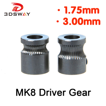 3DSWAY 3D printer accessories Extrude Wheel MK8 Extruder Filament Drive Gear for 1.75mm/3mm Wire feeding wheel