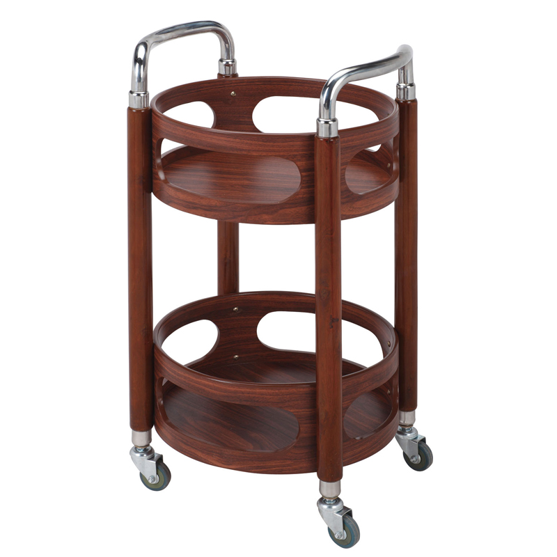 Hotel Restaurant Delivery Car Double Solid Wood Wine Car Cake Car 4S Service Cart