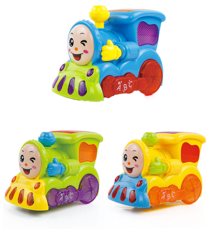 Electric Universal Small Train Light Included Light Music Storytelling Educational Mini Cartoon Locomotive CHILDREN'S Toy