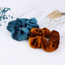 Get more info on the 2pcs Hair Band Scrunchies for Women Girls Hair Accessories Gold Velvet Color Elastic Ponytail Holder Rubber Hair Ties Donut Rope