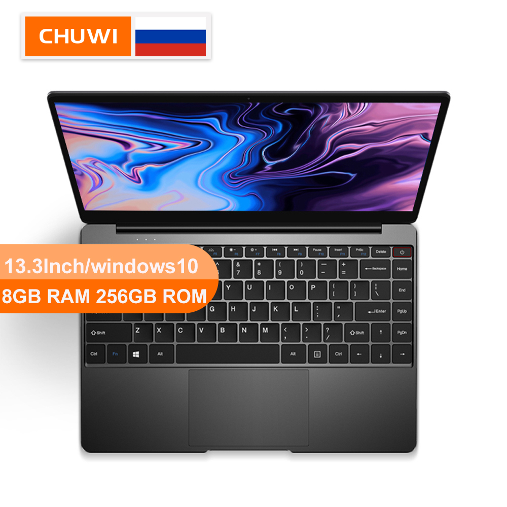 CHUWI AeroBook 13.3Inch Laptop Intel Dual Core M3 6Y30  8GB RAM 256GB SSD Windows10  With Backlit Keyboard Metal Cover Notebook