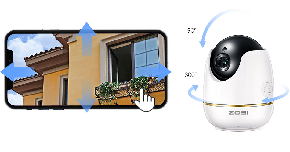 H25cda4fb68074949997863fa7af7e9c84 ZOSI 1080P HD Wifi Wireless Home Security IP Camera 2.0MP IR Network CCTV Surveillance Camera with Two-way Audio Baby Monitor