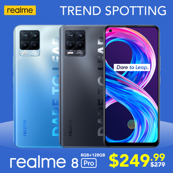 [Real Stock] realme 8 Pro Global Version 6GB/8GB 128GB 108MP Camera 50W SuperDart Charge Super AMOLED 1