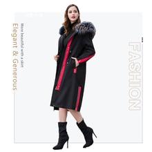 2019 winter women coat real fur coat in Real Fur parka fox fur collar black rabbit liner jacket Women's winter parka fox collar цена 2017