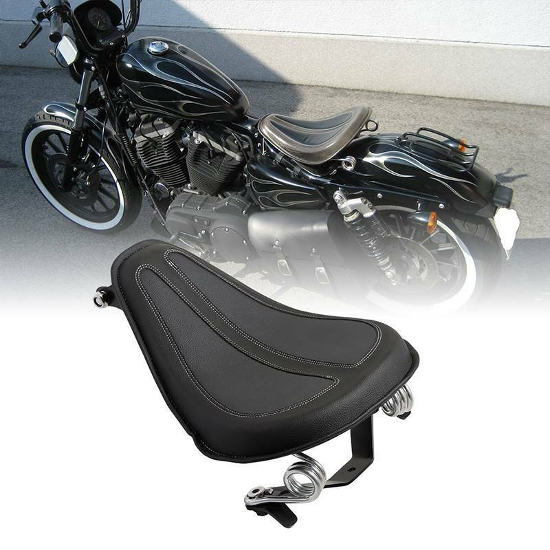 Motorcycle Moto Solo Seat & Brackets Spring For Harley Sportster 2004-2006 Iron 883 XL1200 XL883 2004-18