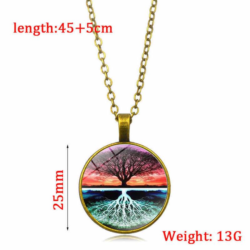 คลาสสิก WISH Tree Of Life สร้อยคอส่องสว่าง GLOW In The Dark อลูมิเนียมสร้อยคอผู้หญิงผู้ชายทองแดงห่วงโซ่เงินสีดำเครื่องประดับ