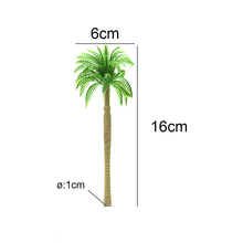 Model Coconut Tree Toy 20PCS Micro Landscape 16cm Train Track Railway Tree Green Sand Table Making Scene DIY Plant цена 2017