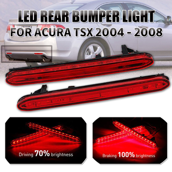 2x LED Rear Bumper Reflector Brake Tail Lights For Acura TSX 2004 2005 2006 07 2008 Led Redr Bumper Light Reverse Light Led Bulb image