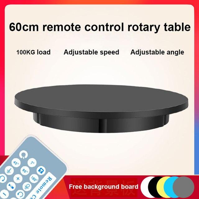 Support daffichage de télécommande 60cm, Base pour prise de vue en Studio Photo, supportant 100kg, Rotation automatique intelligente