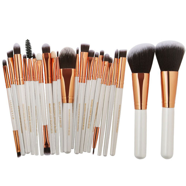 20/22Pcs Beauty Makeup Brushes Set Cosmetic Foundation Powder Blush Eye Shadow Lip Blend Make Up Brush Tool Kit MENGSHANG MAANGE 4