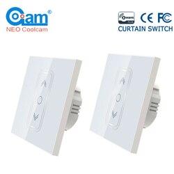 NEO Coolcam 2 шт./лот ЕС 868,4 МГц умный дом Z Wave плюс умная штора переключатель для Электрический моторизованный занавес жалюзи
