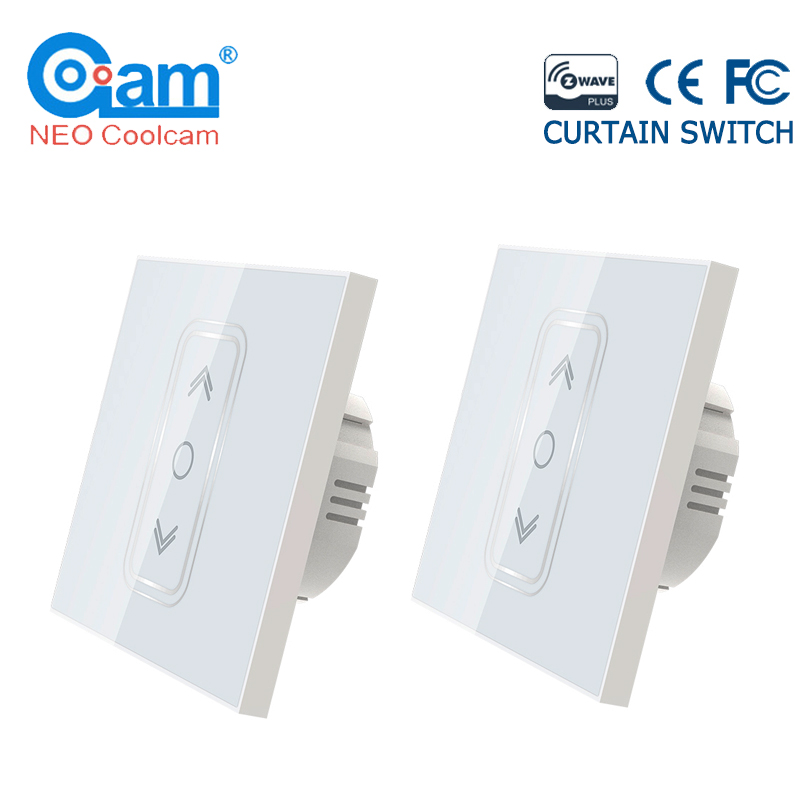 NEO Coolcam 2PCS/lot EU 868.4Mhz Smart Home Z Wave Plus Smart Curtain Switch For Electric Motorized Curtain Blind Roller Shutter