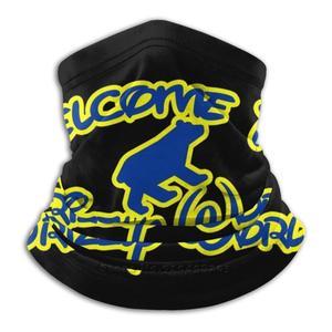 Добро пожаловать в Grizzly мир синий/желтый бандана шарф-маска шеи Теплый головной убор Мемфис Баскетбол гризли Добро пожаловать