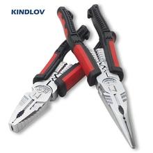 KINDLOV Alicates de punta larga multifuncional, herramienta de prensado, cortador de cables, Alicates de punta larga, herramientas de reparación multiherramienta para electricistas