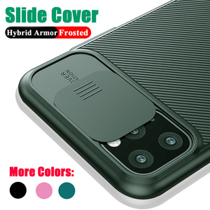 Camera Protection Phone Case For iPhone 12 11 11Pro Max XR XS Max X 7 8 6S Plus 11Pro Slide Soft Silicone Shockproof Matte Cover