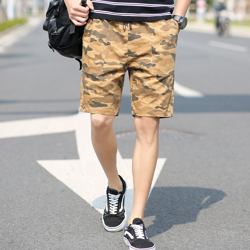 Shorts Men's Summer Camouflage Joint Cowboy Shorts Men's Youth Korean-style Shorts Camouflage Workwear Shorts