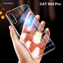 Para cat s62 pro caso ultra fino claro macio tpu caso capa para cat s62 pro couqe funda