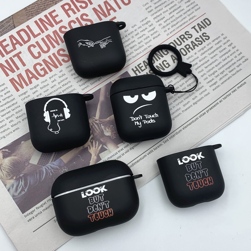 Silikonska futrola za Apple Airpods 1 2 futrole slogan jednostavan - Prijenosni audio i video - Foto 2