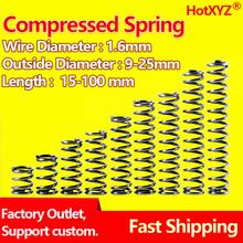HotXYZ Cylidrical cewka sprężyna dociskowa wirnik powrót sprężyna dociskowa ściśnięta sprężyna drut ze stali sprężynowej średnica 1 6mm 65Mn tanie tanio NONE Metalworking CN (pochodzenie) STEEL Spirala Przemysłowe compression Y type