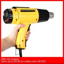 Ac220 digital elétrica pistola de ar quente temperatura controlado edifício secador de cabelo pistola de calor ferramentas de solda ajustável + bocal