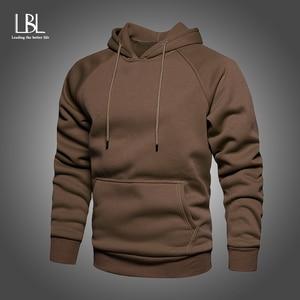 New Solid Men Hoodies 2020 Autumn New Men's Casual Hooded Sweatshirts Basic Man Streetwear Casual Pullovers Winter Fleece Hoody