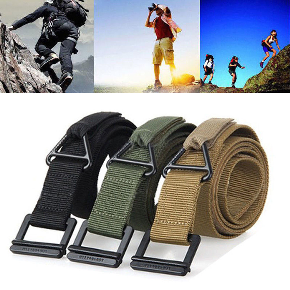 Men Adjustable Survival Tactical Belt Emergency Rescue Rigger Militaria Military Tactical Belt