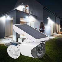 Luz de cámara falsa Solar 2020, 8 LED, Sensor de movimiento, impermeable, 3 modos, lámpara de seguridad para jardín al aire libre, cámara falsa de seguridad