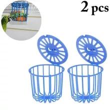 Basket Cage Hanging-Toys Vegetable-Feeder Bird Pet-Feeding-Supplies Fruit 2PCS Multi-Purpose