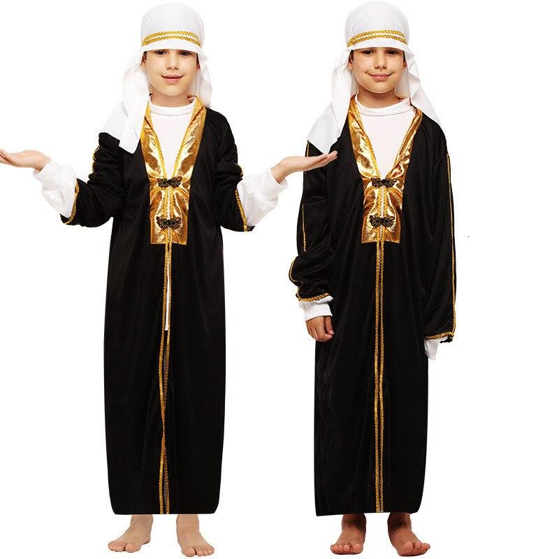 Children Party Halloween Aladdin Costumes Aladdin Lamp Genius Dress Adam Prince Fantasy Arab Dress Dress Boy Carnival Dress