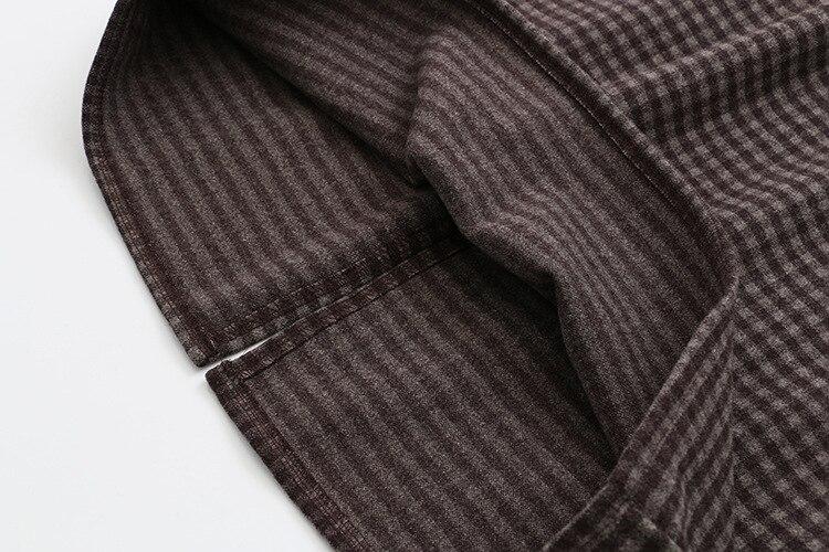 Купить клетчатая шерстяная женская юбка коричневый черный повседневная
