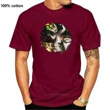 Rei julien os pinguins de madagascar parafuso pescoço camiseta tamanho xxl vermelho masculino mangas curtas t camisa superior