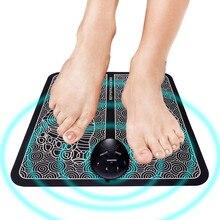 USB Электрический EMS массаж мышц ног-импульсный массажер коврик для ног для улучшения кровообращения расслабляющее давление мышечная боль G824