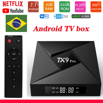 Tanix TX9 Pro Android 7.1 TV Box Amlogic S912 2.4G 5.8G wifi 1000M LAN 4K Brazil Smart TV Box youtube Media Player