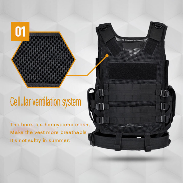 Multi-Pocket Hunting Clothes Swat Tactical Vest Swat Chest Rig SWAT Army Hunting Protective Vest Camping Shooting Accessories 6