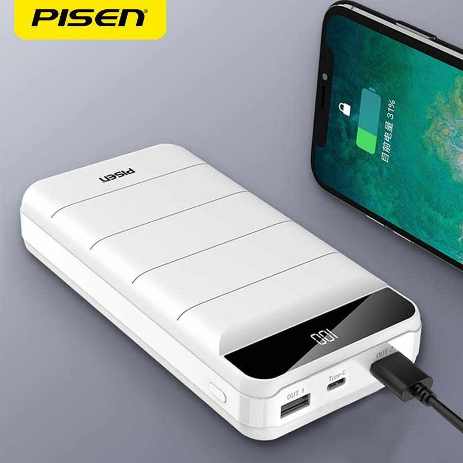 PISEN Power Bank 10000mAh LED Di Động Sạc Dự Phòng Powerbank 20000mAh di  động sạc Nhanh USB PoverBank cho iPhone Xiaomi|Sạc dự phòng