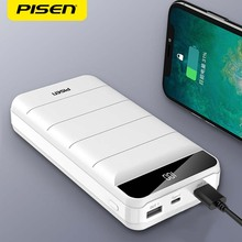 PISEN Power Bank 10000mAh LED Portable Charging PowerBank 20000mah portable Fast charger USB PoverBank for iPhone Xiaomi