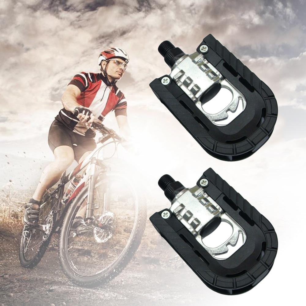 Universal Plastic Mountain Bike Bicycle Folding Pedals Non-slip Black BG