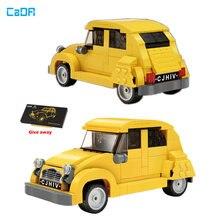 Cada 1948 Classic 2CV Car Model City Mini Cars Building Blocks Brick 298pcs Children's Puzzle Gift Set Kids Toys Boys